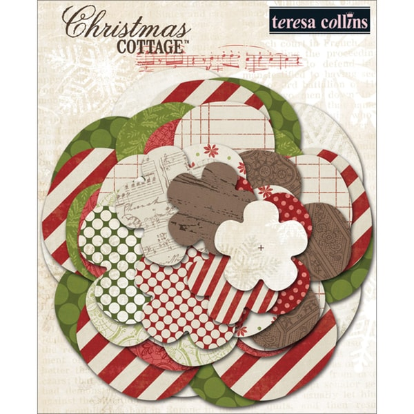 Christmas Cottage Paper Flower Layers-