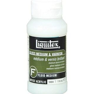 Liquitex Gloss Acrylic Fluid Medium & Varnish-4 Ounces