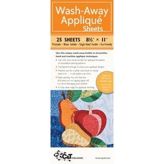 "Wash-Away Applique Sheets -8-1/2""X11"" 25 Sheets"