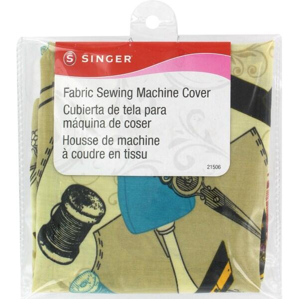 "Fabric Sewing Machine Cover-15-1/2""X10-1/2""X6"""
