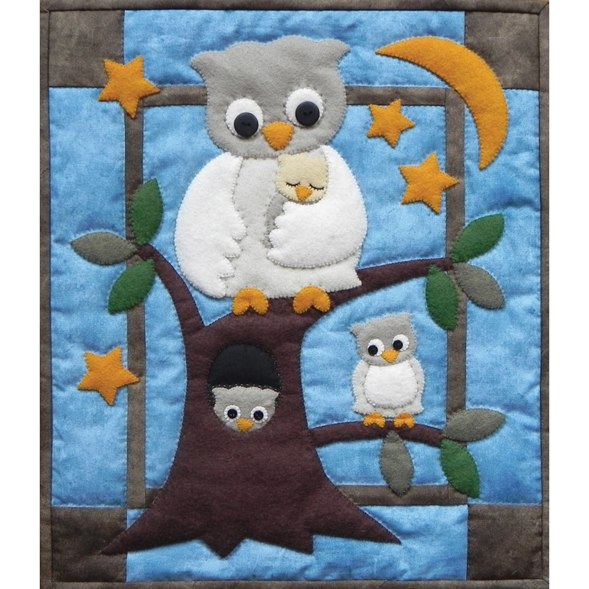 Rachel's Of Greenfield Owl Family Wall Hanging Quilt Kit-...