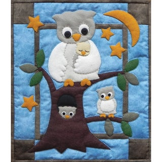 "Owl Family Wall Hanging Quilt Kit-13""X15"""