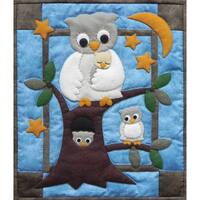 """Owl Family Wall Hanging Quilt Kit-13""""X15"""""""