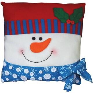 "Snowman Pillow Felt Applique Kit-15""X15"""