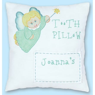 "Stamped Tooth Fairy Pillow Cover 8""X8""-"