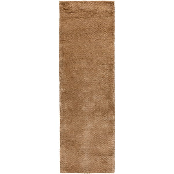 Hand-woven Sutherlin Plush Shag New Zealand Wool Area Rug - 2'6 x 8'