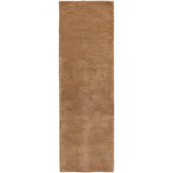 Hand-woven Sutherlin Plush Shag New Zealand Wool Area Rug (2'6 x 8')
