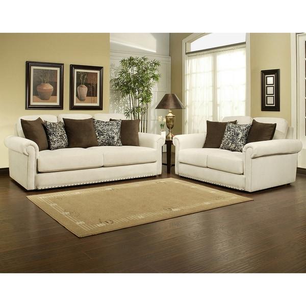 Shop Furniture Of America Sholin Micro Denier Sofa
