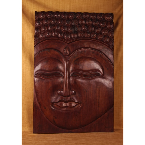 Handmade Meditative Buddha Panel (India)