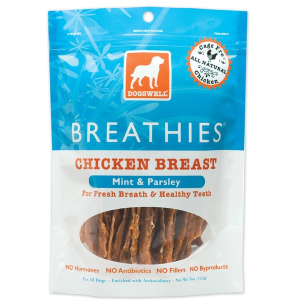 Dogswell Breathies Chicken Jerky (Five ounces)