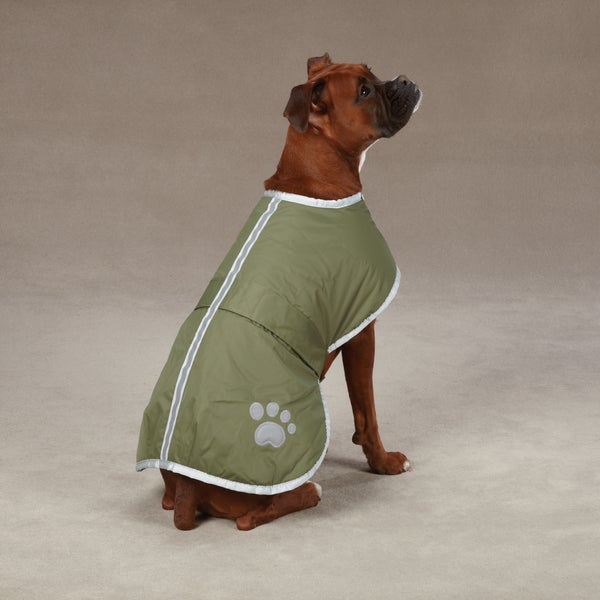 Shop Zack & Zoey Nor\'easter Green Blanket Dog Coat - Free Shipping ...