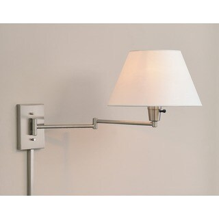 Laurel Creek Weston Wall Brushed Steel Swing-Arm Lamp