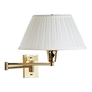 Design Craft Varallo Polished Brass Wall Swing Arm Lamp