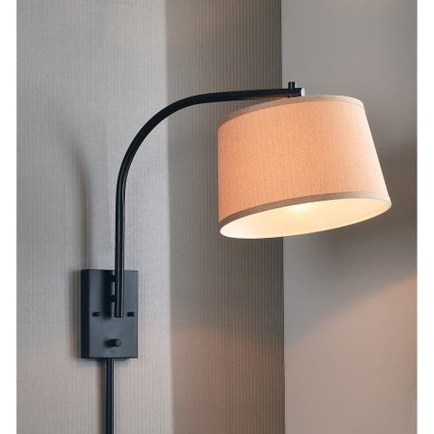 Design Craft Hackett Oil Rubbed Bronze 21-inch Wall Swing Arm Lamp
