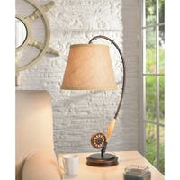 Design Craft Bronze-finish Metal Fishing Rod Table Lamp