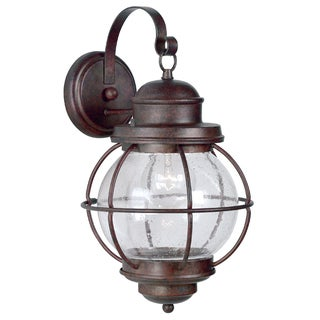 Design Craft Elton Medium Blackened Gilded Copper Wall Lantern