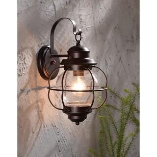 Elton Medium Blackened Gilded Copper Wall Lantern