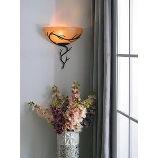 Rustic wall lights for less overstock pine canopy tombigbee 1 light blackened bronze wall sconce mozeypictures Images