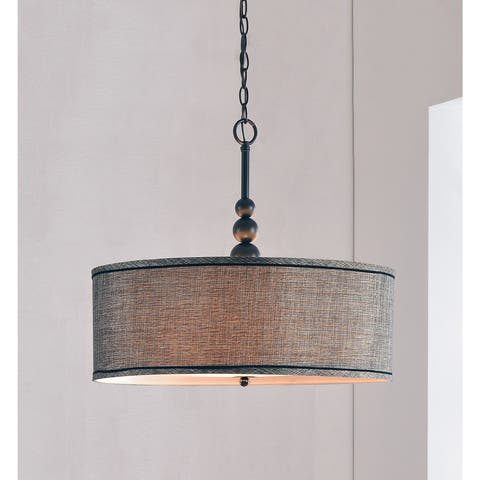 Buy drum pendant lighting online at overstock our best copper grove junius 3 light blackened oil rubbed bronze pendant aloadofball Images