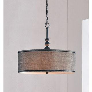 drum lighting pendant fabric copper grove junius 3light blackened oil rubbed bronze pendant buy drum lighting online at overstockcom our best