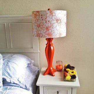 Wayland Floral Shade Modern Table Lamp