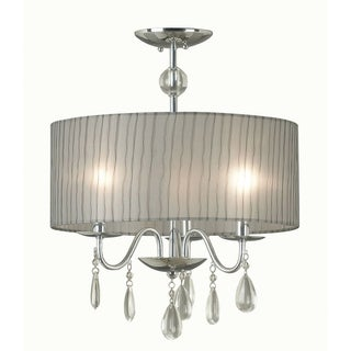 Corea 21-inches Chrome 3-light Pendant