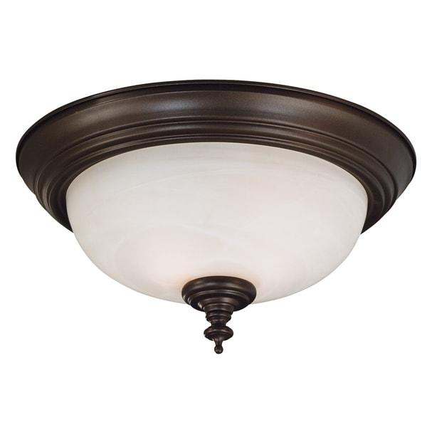 Padula 2-light Bronze Flush Mount
