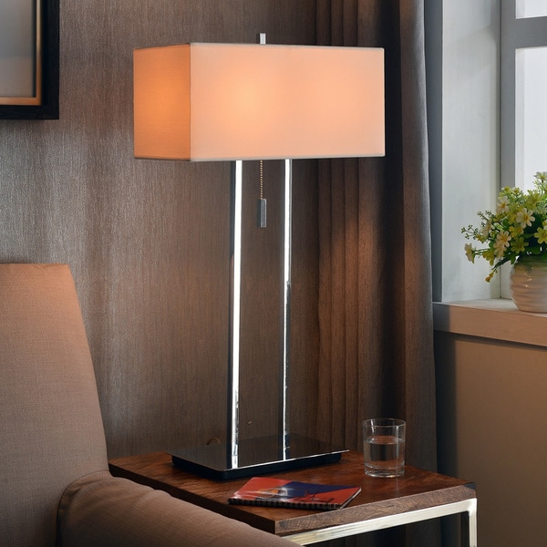 Clay Alder Home Susitna Chrome 29-inch Table Lamp