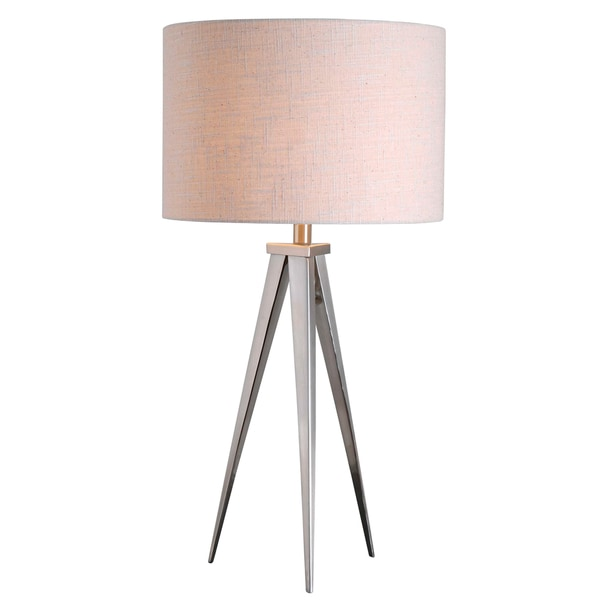 Caperana 29-inch High With Steel Finish Table Lamp