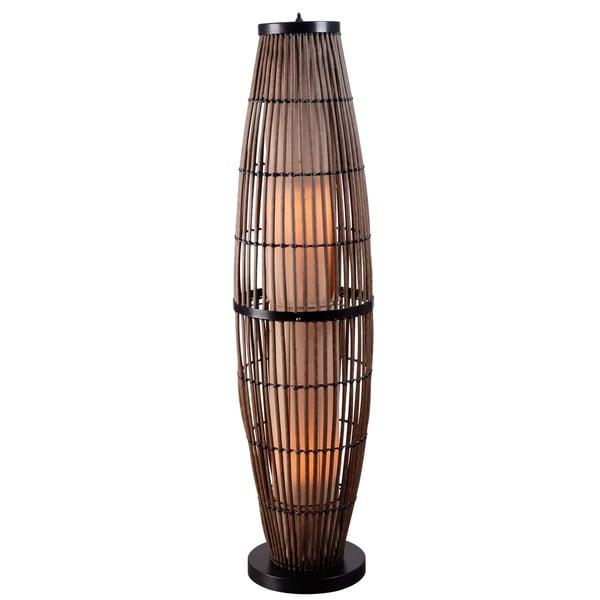 Lavinta 51-inch Indoor/ Outdoor Floor Lamp - Rattan
