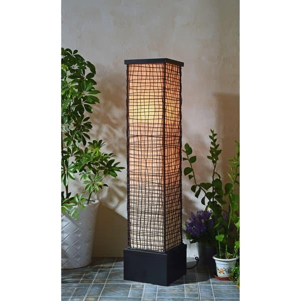 Lyerly Bronze 51 Inch Indoor Outdoor Floor Lamp On