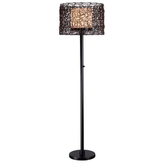 Burcei Indoor/ Outdoor Bronze Finish Floor Lamp