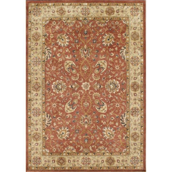TajMahal By Alliyah Hand Made Rust 100-percent New Zeeland Blend Wool Rug 10x14