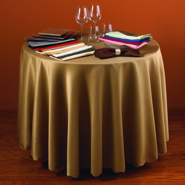 Satin Tablecloth Liner with Scalloped Edge