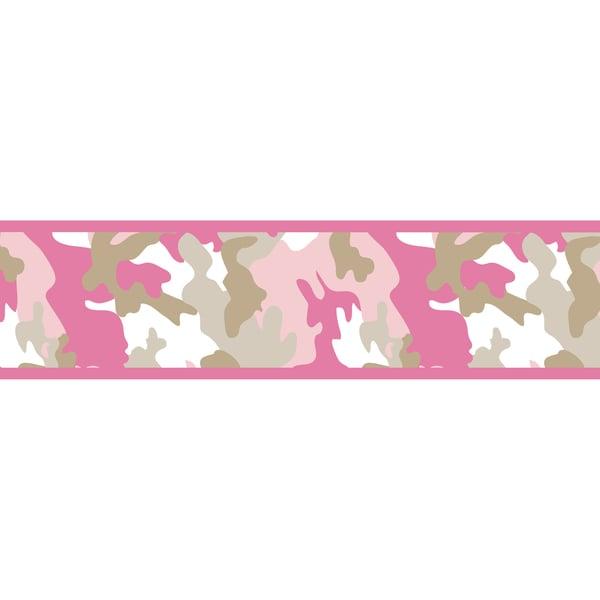 Shop Sweet Jojo Designs Pink Camo Army Wall Paper Border Free