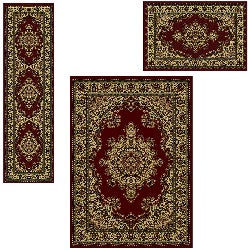 Admire Home Living Caroline 'Medale' Oriental Area Rugs (Set of 3)
