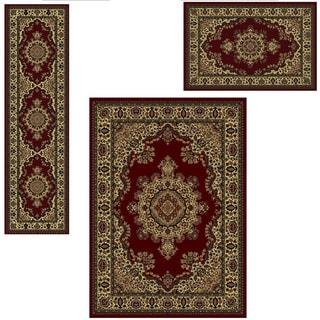 Admire Home Living Caroline 'Medale' Oriental Area Rugs (Set of 3) - 5'5 x 7'7