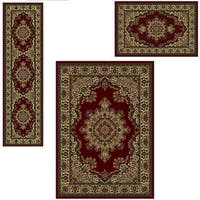 Admire Home Living Caroline 'Medale' Oriental Area Rugs (Set of 3) - 5'5 x 7'7