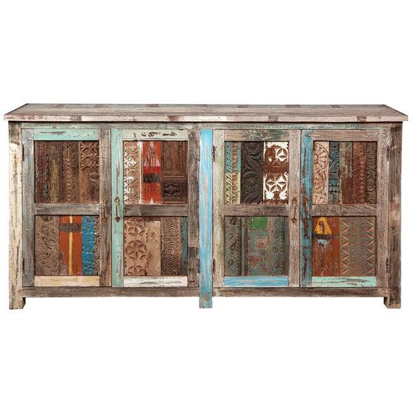 Kosas Home Bono Carved Panel 4 Door Buffet