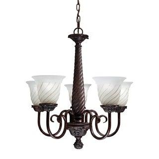 Transitional 5-light Carravagio Bronze Chandelier