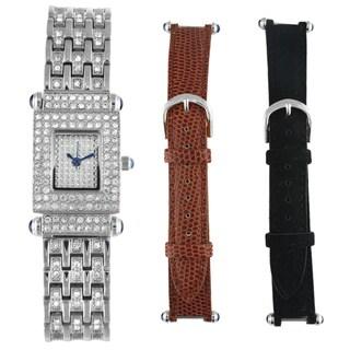 Peugeot Women's Silvertone Interchangeable Strap Watch