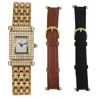 Peugeot Women's Goldtone Steel Interchangeable Strap Watch