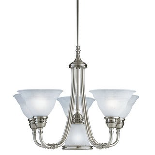 Transitional 6-light Antique Pewter Chandelier