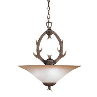 Lodge Design 3-light Buckhorn Pendant light fixture