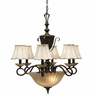 Traditional 8-light Vintage Bronze Chandelier