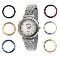 Peugeot Women's Steel Interchangeable Bezel Watch
