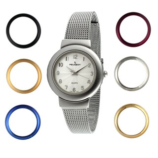 Peugeot Women's Steel Interchangeable Bezel Watch