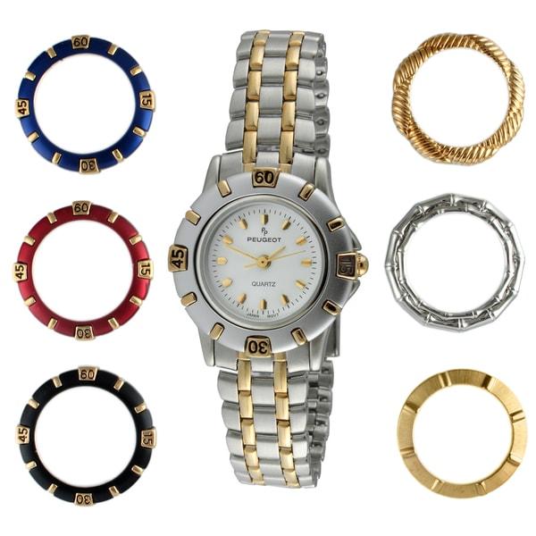 Peugeot Women's Two-tone Interchangeable Bezel Watch