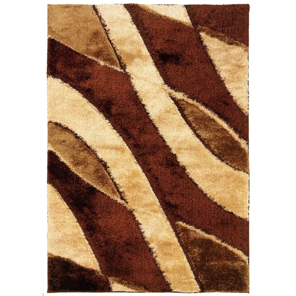 Somette Shadow Magic Cafe Latte Stirred Area Rug (7'10 x 11'2)