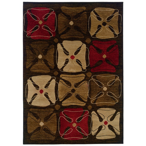 Somette Western Elegance Expressions of Clover Mild Area Rug (5'3 x 7'6)